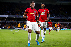 Anthony Martial of Manchester United celebrates scoring a goal to make it 1-0 - Mandatory by-line: Robbie Stephenson/JMP - 19/08/2019 - FOOTBALL - Molineux - Wolverhampton, England - Wolverhampton Wanderers v Manchester United - Premier League