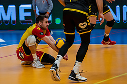 Mats Kruiswijk of Dynamo in action during the second final league match between Amysoft Lycurgus vs. Draisma Dynamo on April 24, 2021 in Groningen.