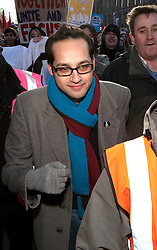 "Aaron Porter, the president of the National Union of Students, is to step down following a barrage of attacks from within the student movement. FILE PICTURE © under license to London News Pictures. 21/2/2011: Aaron Porter, the president of the National Union of Students, is to step down following a barrage of attacks from within the student movement. At a demonstration in Manchester on 29th January 2011 police had to lead him to safety after protesters rounded on him. Photo credit should read ""Joel Goodman/London News Pictures""."