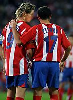 Madrid 18/9/2005 Liga Spagnola - Atletico Madrid Barcellona.<br /> <br /> Fernando Torre e Petrov Atletico Madrid<br /> <br /> Photo Alvaro Hernandez Graffiti