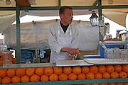 Fresh orange juice stall Marrakech, Morocco