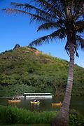 Kamokila Hawaiian Village, Wailua River, Kauai, Hawaii