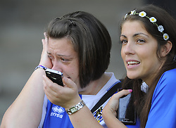 A devastated Bristol Rovers fan - Photo mandatory by-line: Joe Meredith/JMP - Mobile: 07966 386802 03/05/2014 - SPORT - FOOTBALL - Bristol - Memorial Stadium - Bristol Rovers v Mansfield - Sky Bet League Two