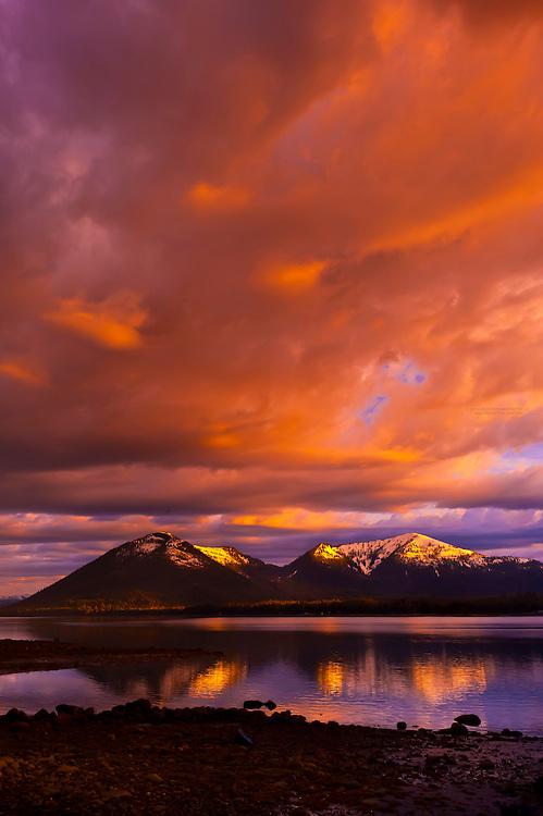 Sunset, near Petersburg, southeast Alaska USA
