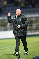 Falkirk's manager Peter Houston. <br /> Falkirk 1 v 0 Hibernian, Scottish Championship game played 6/12/2014 at The Falkirk Stadium .