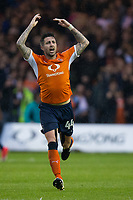 Luton Town's Alan Sheehan celebrate his sides equalising goal to make the score 1-1<br /> <br /> Photographer Craig Mercer/CameraSport<br /> <br /> The EFL Sky Bet League Two Play-Off Semi Final Second Leg - Luton Town v Blackpool - Thursday 18th May 2017 - Kenilworth Road - Luton<br /> <br /> World Copyright © 2017 CameraSport. All rights reserved. 43 Linden Ave. Countesthorpe. Leicester. England. LE8 5PG - Tel: +44 (0) 116 277 4147 - admin@camerasport.com - www.camerasport.com