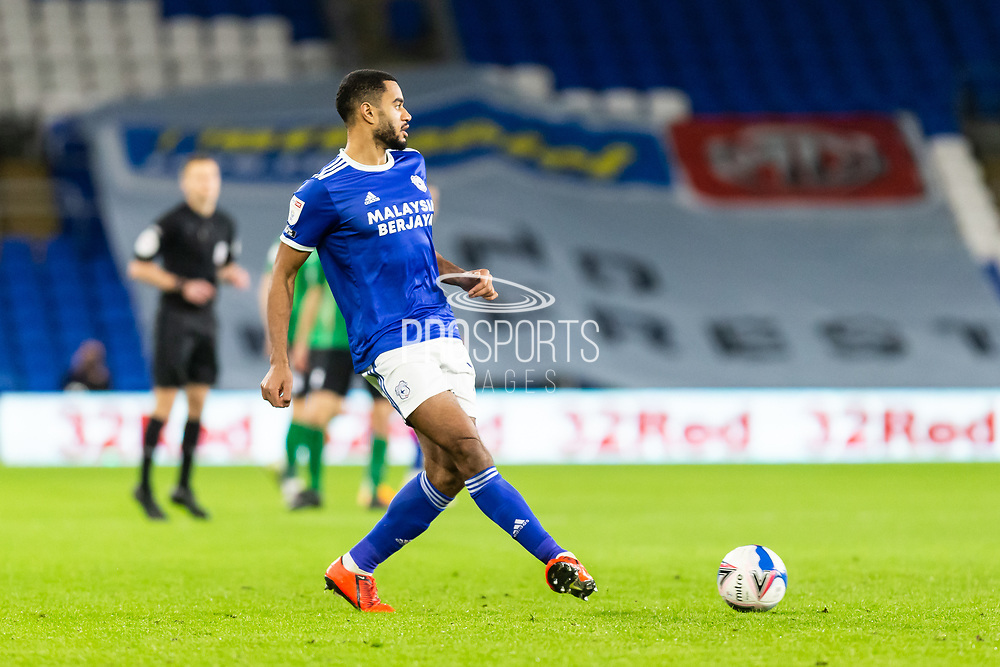 Cardiff City's Curtis Nelson (16) in action during the EFL Sky Bet Championship match between Cardiff City and Birmingham City at the Cardiff City Stadium, Cardiff, Wales on 16 December 2020.