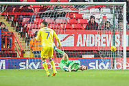 Bristol Rovers defender Joe Martin (29) (not in the picture) scores a goal taking the score to 1-1 during the EFL Sky Bet League 1 match between Charlton Athletic and Bristol Rovers at The Valley, London, England on 24 November 2018.