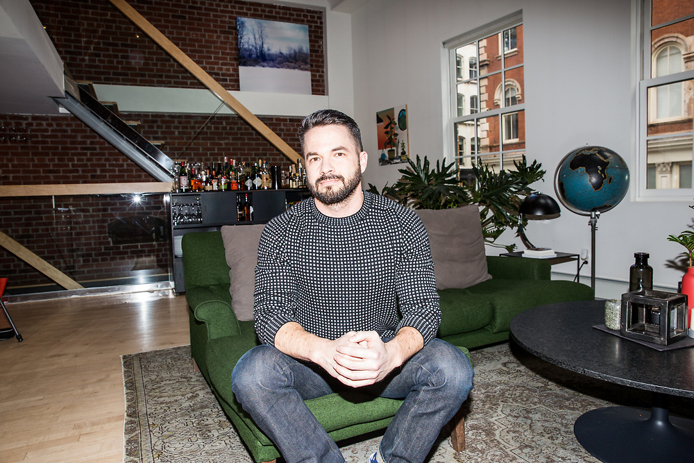Tasting Table CEO, Geoff Bartakovics photographed in his New York City home, 2017.