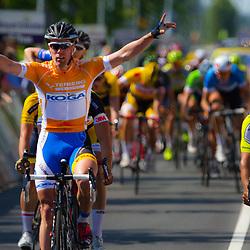 WIELRENNEN, Hoofddorp, Olympias tour. Wim Stroetinga wint de vierde etappe op rij