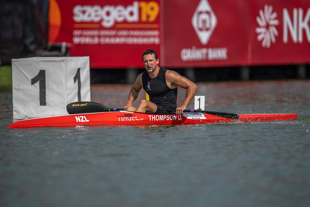 Quaid Thompson , NZ Mens K1 1,000mtr                    <br /> <br /> International Canoe Federation World Championships, Szeged, Hungary. Saturday 24 August 2019  © Copyright photo Steve McArthur / www.photosport.nz