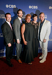17 September 2014. New Orleans, Louisiana.<br /> NCIS New Orleans. CBS Red carpet event at the WW2 Museum.<br /> L/R; Actors Lucas Black, Rob Kerkovich, CCH Pounder, Zoe McLellan and Scott Bakula.<br /> Photo Credit; Charlie Varley/varleypix.com