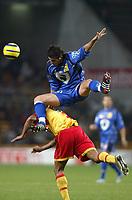 Fotball<br /> Frankrike 2004/05<br /> Lens v Bastia<br /> 18. desember 2004<br /> Foto: Digitalsport<br /> NORWAY ONLY<br /> ANTHER YAHIA (BAS) / DANIEL COUSIN (LENS)