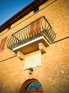Villa San Donato in Italy, on the border between Tuscany and Lazio. The marble plaque over the front door states that San Donato was built in 1893 on the site of a small Etruscan temple.