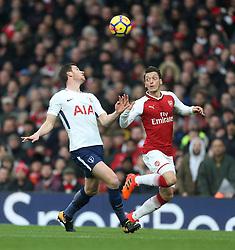 18 November 2017 London : Premier League Football : Arsenal v Tottenham Hotspur - Jan Vertonghen of Tottenham (left) and Mesut Ozil.<br /> (photo by Mark Leech)