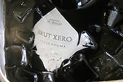Bottle of Brut Xero Cuvee Dogma Domaine St Diego Bodega Winery in an ice bucket with water and ice. The O'Farrell Restaurant, Acassuso, Buenos Aires Argentina, South America