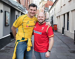 A Wales and Australia fan enjoying the pre match atmosphere<br /> <br /> Photographer Simon King/Replay Images<br /> <br /> Under Armour Series - Wales v Australia - Saturday 10th November 2018 - Principality Stadium - Cardiff<br /> <br /> World Copyright © Replay Images . All rights reserved. info@replayimages.co.uk - http://replayimages.co.uk