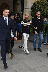 Jaden Smith And Willow Smith are seen at the Ritz hotel in Paris. 05 Mar 2019 Pictured: Jaden Smith , Willow Smith. Photo credit: Neil Warner/MEGA TheMegaAgency.com +1 888 505 6342