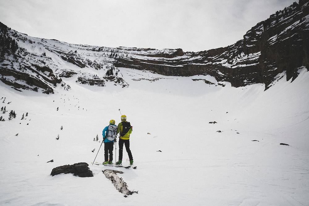 Caroline Gleich skiing the Northwest Super Couloir of Box Elder Peak, Wasatch Mountains, Utah.