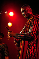 Bassekou Kouyate and his band Ngoni ba performing live at Union Chapel in Islington, London, UK (20 March 2014) © Rudolf Abraham