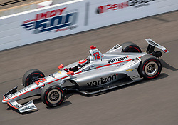 May 20, 2018 - Indianapolis, IN, U.S. - INDIANAPOLIS, IN - MAY 20: Will Power, driver of the #12 Verizon Team Penske Chevrolet, gets some practice laps in during Pole Day for the Indianapolis 500, on May 20, 2018 at the Indianapolis Motor Speedway in Indianapolis, IN (Photo by Khris Hale/Icon Sportswire) (Credit Image: © Khris Hale/Icon SMI via ZUMA Press)