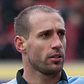 Football - 2012 / 2013 FA Cup Fourth Road - Stoke City vs. Manchester City<br /> Pablo Zabaleta of Manchester City pumps his fist following victory at the Britannia Stadium