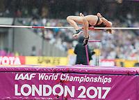 Athletics - 2017 IAAF London World Athletics Championships - Day Two (AM Session)<br /> <br /> Event: High Jump Women - Heptathlon<br /> <br /> Carolin Schafer (GER) clears the bar <br /> <br /> COLORSPORT/DANIEL BEARHAM