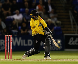 Gloucestershire's Jack Taylor in action today <br /> <br /> Photographer Simon King/Replay Images<br /> <br /> Vitality Blast T20 - Round 8 - Glamorgan v Gloucestershire - Friday 3rd August 2018 - Sophia Gardens - Cardiff<br /> <br /> World Copyright © Replay Images . All rights reserved. info@replayimages.co.uk - http://replayimages.co.uk