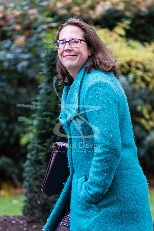 London, October 31 2017. Lord Privy Seal and Leader of the House of Lords Baroness Natalie Evans  attends the UK cabinet meeting at Downing Street. © Paul Davey