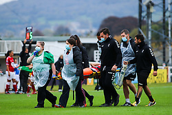 Aimee Palmer of Bristol City Women is stretchered off after an injury- Mandatory by-line: Will Cooper/JMP - 18/10/2020 - FOOTBALL - Twerton Park - Bath, England - Bristol City Women v Birmingham City Women - Barclays FA Women's Super League