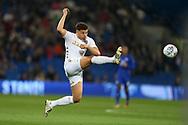 Kalvin Phillips of Leeds Utd in action. EFL Skybet championship match, Cardiff city v Leeds Utd at the Cardiff city stadium in Cardiff, South Wales on Tuesday 26th September 2017.<br /> pic by Andrew Orchard, Andrew Orchard sports photography.