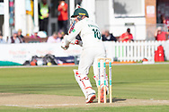 Callum Parkinson batting during the Specsavers County Champ Div 2 match between Leicestershire County Cricket Club and Northamptonshire County Cricket Club at the Fischer County Ground, Grace Road, Leicester, United Kingdom on 12 September 2019.