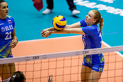 22-08-2017 NED: World Qualifications Slovenia - Bulgaria, Rotterdam<br /> Bulgaria win 3-1 against Slovenia / Ela Pintar #15 of Slovenia<br /> Photo by Ronald Hoogendoorn / Sportida