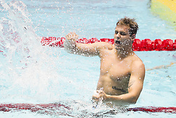 GWANGJU, July 28, 2019  Gold medalist Zane Waddell of South Africa celebrates after the men's 50m backstroke final at the Gwangju 2019 FINA World Championships in Gwangju, South Korea, on July 28, 2019. (Credit Image: © Li Gang/Xinhua via ZUMA Wire)