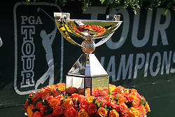 September 20, 2018 - Atlanta, GA, U.S. - ATLANTA, GA - SEPTEMBER 20: The FedEx Cup Trophy during the first round of the PGA Tour Championship on September 20, 2018, at East Lake Golf Club in Atlanta, GA. (Photo by Michael Wade/Icon Sportswire) (Credit Image: © Michael Wade/Icon SMI via ZUMA Press)