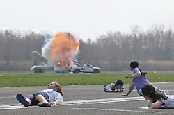 Tweed New Haven Regional Airport Triennial Disaster Drill Exercise  | 26 April 2011 #HVN Pretenders reaction as the plane explosion stimulationly happens.