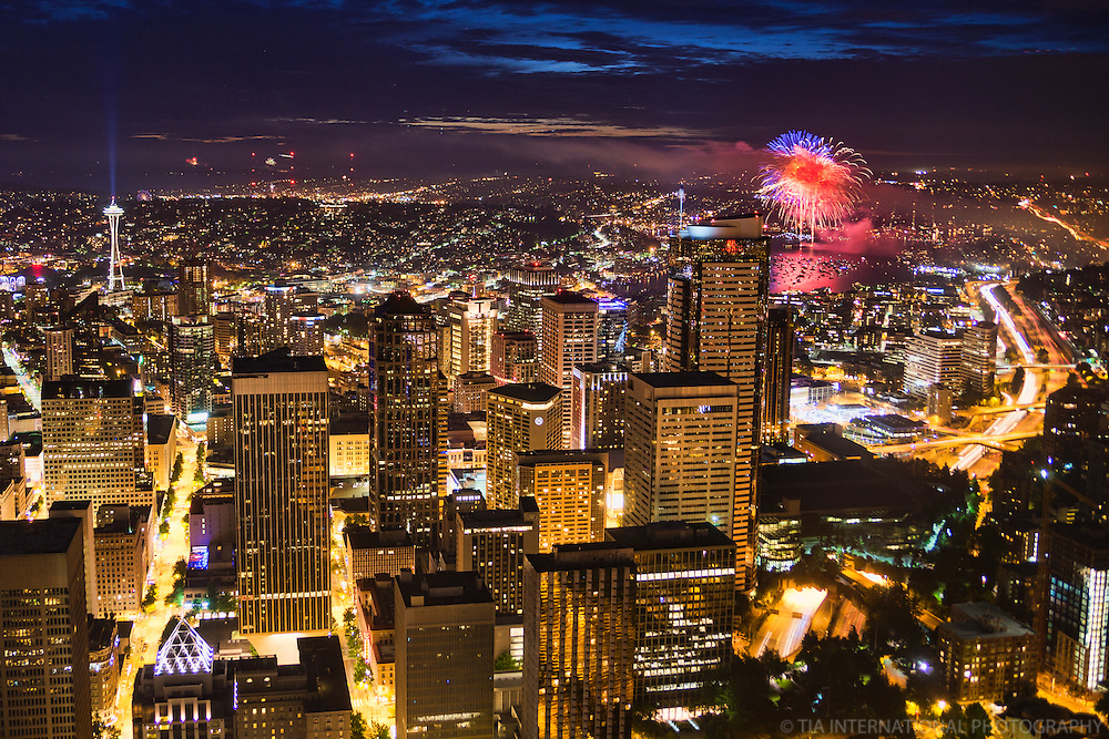 Downtown Seattle on Independence Day (2014)