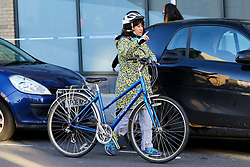 © Licensed to London News Pictures. 04/01/2020. London, UK. JEREMY CORBYN's LAURA ALVAREZ is seen with her bicycle in north London. Photo credit: Dinendra Haria/LNP