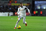 Swansea city's Pablo Hernandez in action. Barclays Premier league, Swansea city v Everton at the Liberty Stadium in Swansea,  South Wales on Sunday 22nd Dec 2013. pic by Andrew Orchard, Andrew Orchard sports photography.
