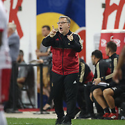 HARRISON, NEW JERSEY- OCTOBER 15: Atlanta United head coach Gerardo Martino on the sideline during the New York Red Bulls Vs Atlanta United FC, MLS regular season match at Red Bull Arena, Harrison, New Jersey on October 15, 2017 in Harrison, New Jersey. (Photo by Tim Clayton/Corbis via Getty Images)