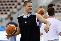 Bostjan Nachbar of Slovenia during the practice session, on September 12, 2009 in Arena Lodz, Hala Sportowa, Lodz, Poland.  (Photo by Vid Ponikvar / Sportida)