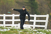 Michael Habets of Newport, NH playing in the Disc Golf Tournament at Castle in the Clouds.  Karen Bobotas for the Laconia Daily Sun
