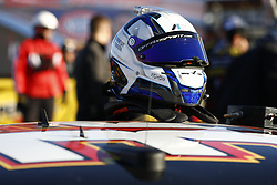 March 2, 2018 - Las Vegas, Nevada, United States of America - March 02, 2018 - Las Vegas, Nevada, USA: Matt DiBenedetto (32) hangs out on pit road during qualifying for the Pennzoil 400 at Las Vegas Motor Speedway in Las Vegas, Nevada. (Credit Image: © Justin R. Noe Asp Inc/ASP via ZUMA Wire)