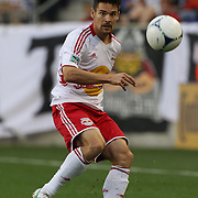 New York Red Bulls player Heath Pearce in action during the New York Red Bulls V Chivas USA Major League Soccer match at Red Bull Arena, Harrison, New Jersey, 23rd May 2012. Photo Tim Clayton