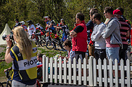 A practice at the 2016 UCI BMX Supercross World Cup in Papendal, The Netherlands.