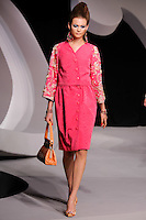 Behati Prinsloo walks the runway  at the Christian Dior Cruise Collection 2008 Fashion Show