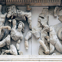Europe, Germany, Berlin. Triton Frieze at Pergamon Museum.