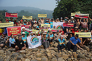 Blockades against the Baram Dam have been a huge success, after years of campaigning and protest, the  Baram Dam in Sarawak has now been shelved. Blockade and international protest at Baram Dam site. Baram Sarawak 2015<br /><br />The first of 12 mega-dam projects, was the Bakun Dam, which produced a reservoir of 700 sqkm, the size of Singapore, whose flooding began in 2010 and displaced around 10,000 Kenyah people, in Rajang and Belaga. The second phase at Murum would displace a further 24,000 native people, and Baram some 30,000. This huge development program has been overseen by Sarawak's former Chief Minister, Abdul Taib Mahmud, who is now under investigation by Malaysian authorities for corruption, and who has amassed a personal fortune of more than 35 billion US dollars. <br /><br />Borneo native peoples and their rainforest habitat revisited two decades later: 1989/1991 and 2012/2014/2015. <br /> <br /> Sarawak's primary rainforests have been systematically logged over decades, threatening the sustainable lifestyle of its indigenous peoples who relied on nomadic hunter-gathering and rotational slash & burn cultivation of small areas of forest to survive. Now only a few areas of pristine rainforest remain; for the Dayaks and Penan this spells disaster, a rapidly disappearing way of life, forced re-settlement, many becoming wage-slaves. Large and medium size tree trunks have been sawn down and dragged out by bulldozers, leaving destruction in their midst, and for the most part a primary rainforest ecosystem beyond repair. Nowadays palm oil plantations and hydro-electric dam projects cover hundreds of thousands of hectares of what was the world's oldest rainforest ecosystem which had some of the highest rates of flora and fauna endemism, species found there and nowhere else on Earth, and this deforestation has done irreparable ecological damage to that region