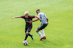 February 10, 2019 - Los Angeles, CA, USA - Los Angeles, CA - February 10, 2019: Atlanta United FC and LAFC played to a 2-2 draw in a Major League Soccer (MLS) preseason match at  Banc of California Stadium. (Credit Image: © Rob Ericson/ISIPhotos via ZUMA Wire)
