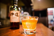 Japanese whisky at a bar in Tokyo, Japan